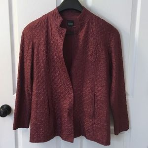 Eileen Fisher Silk Jacket Blazer Coat